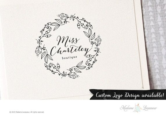 This is a premade logo design perfect for website and blog logo, business logo, boutique logo, Etsy shop logo, fashion logo, or a wedding monogram