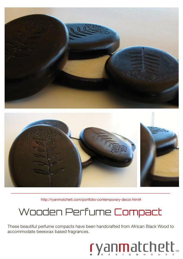 Wooden Perfume Compact