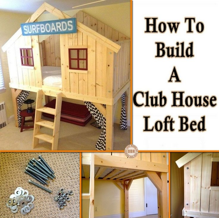 Isn't this a great project for the kids? Learn how to make this DIY clubhouse bed by viewing the full album of the project at http://theownerbuildernetwork.co/f6s5 Do you know someone who would love this?