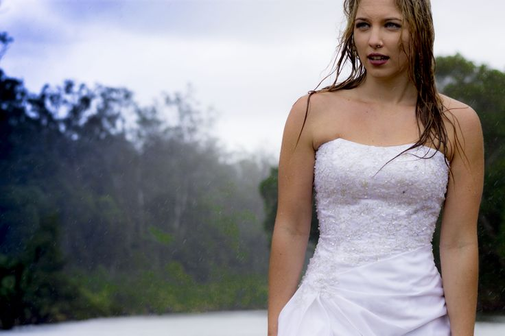 Photo shoots catered for creatively destroying your wedding dress.  Because what else are you going to do with it?