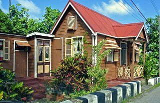 A traditional Barbados chattel house