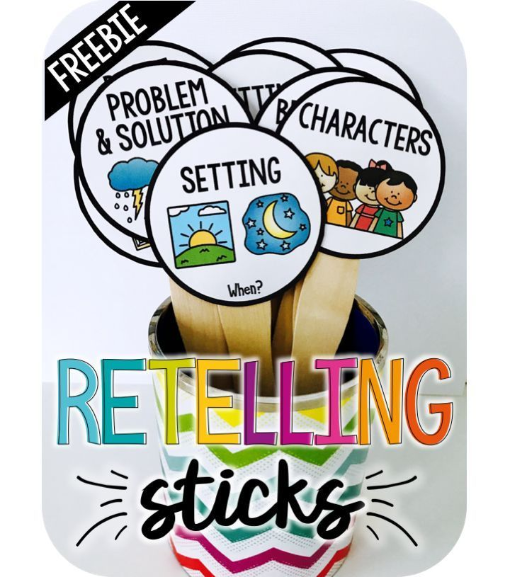 Retell stories using Retelling Sticks
