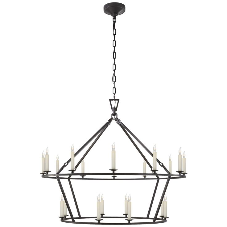 Darlana Large Two Tiered Ring Chandelier Height 33 Quot Width