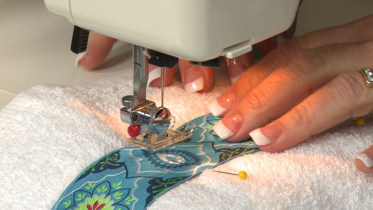 Learn how to sew lace trim onto towels as a quick and easy way to dress them up. Layer different colors to match a room's decor or the holiday season.