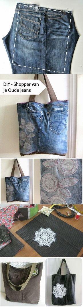 Inspiratie: Tassen maken van gerecyclede Jeans