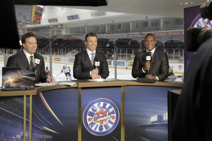 Our Hockey Night in Canada panel preps for showtime in Peterborough.