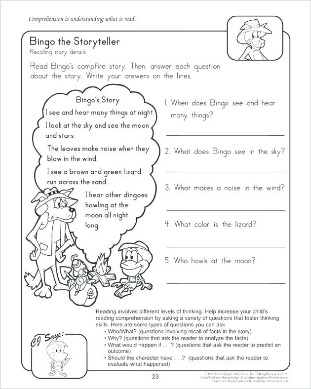 Free Second Grade Reading Worksheets Activities Printable For Me