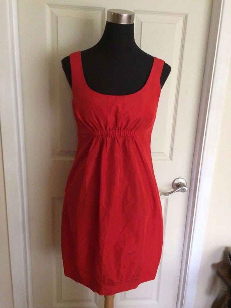 Gorgeous Zara Red Ruched Dress Shift Dress Sheath Dress  - Made in Spain
