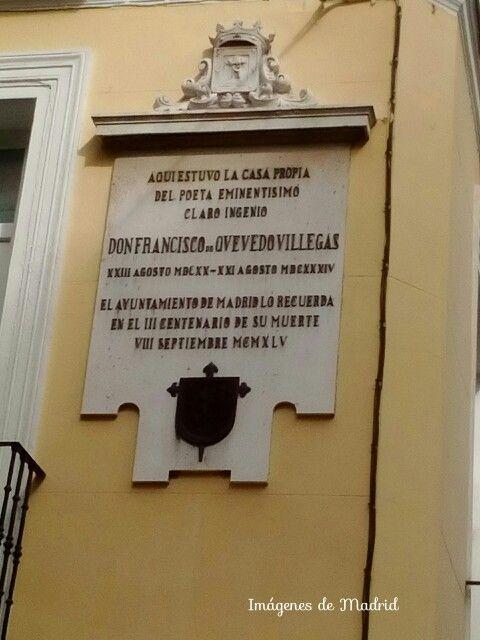 Lápida conmemorativa a Quevedo