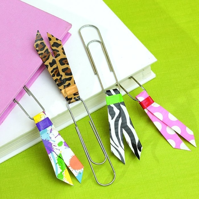 Duct tape bookmarks this will work for bookmark it diy for Duck tape craft book