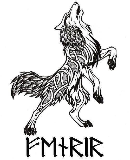norse fenrir tattoo - Google Search
