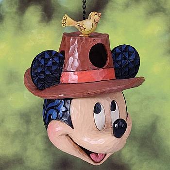 New Jim Shore Disney Mickey Mouse Birdhouse Stone Resin Hanging Garden Decor  | EBay