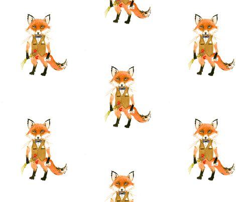 Mr. Fox fabric by Taraput on Spoonflower