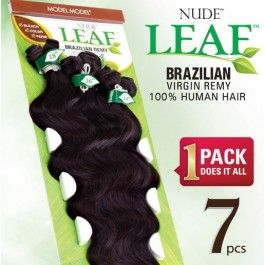 "Model+Model+Nude+Leaf+Brazilian+Remy+Weave+–+Natural+Body+Wave+7+PCS+(18"",+20"",+22"")"