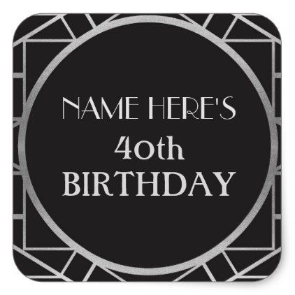 1920's Art Deco Birthday Gatsby Address Stickers - giftidea gift present idea number thirty thirtieth bday birthday 30thbirthday party anniversary 30th