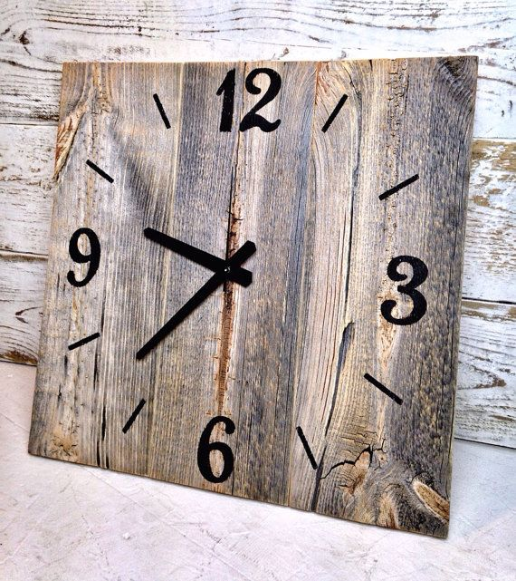 15 x 15 Reclaimed Barn Wood Clock Large by TheRusticPalette