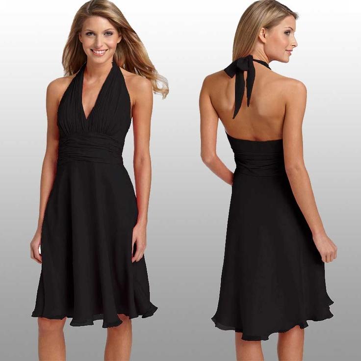 Bridesmaid Short Black Dresses
