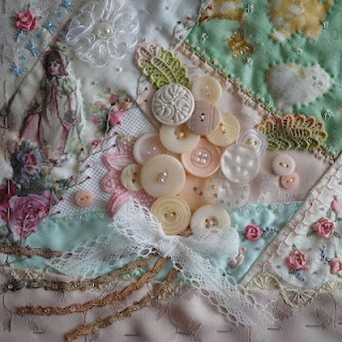 I ❤ crazy quilting & embroidery . . . Crazy Quilt Journal Project 2012 ~By Kaori I., Japan