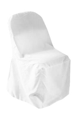 Polyester Folding Chair Cover White Folding Chair