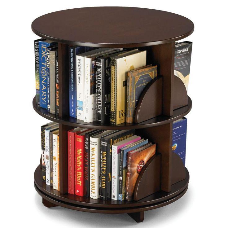 The Rotating Bookcase Hammacher Schlemmer This Bi