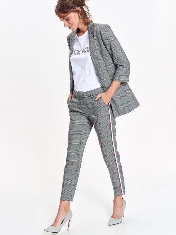 3b88022ffb31e1 Spodnie damskie szare - spodnie długie - TOP SECRET. SSP3014 Świetna  jakość, rewelacyjna cena