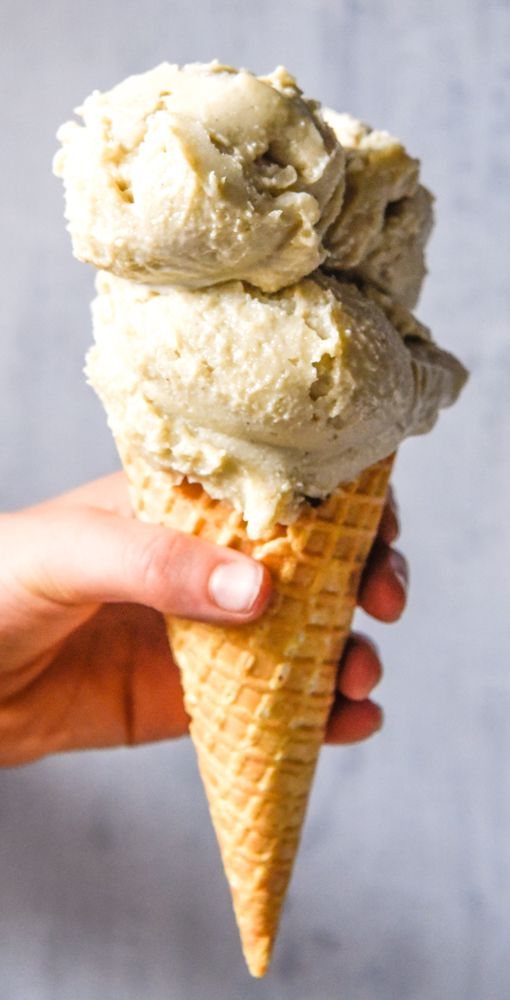 Four Ingredient Coconut Ice Cream with Thermomix Instructions. Simple, delicious and free from gluten, grains, dairy, egg and refined sugar. Enjoy.