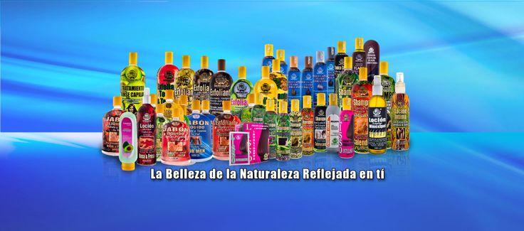 Familia de productos para el cuidado de la piel y el cabello www.herbacol.co