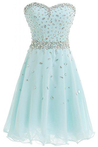 Sweetheart A-Line Chiffon Prom Cocktail Homecoming Short Tulle Dresses Light Blue-gown