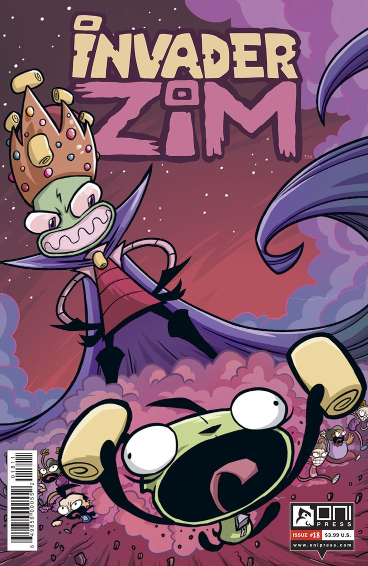 Invader Zim #18 (W) Eric Trueheart (A) Warren Wucinich (C) Fred C. Stresing (CA) Warren Wucinich (retail cover), Aaron Conley (incentive cover) AGE RATING: All Ages GENRE: Humor, Sci-fi PRICE: $3.9…