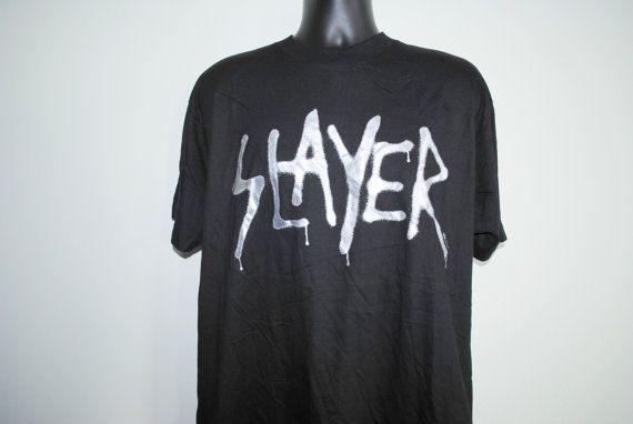 1996 Slayer Undisputed Attitude Vintage 90's Cult Classic Thrash Metal Album Promo Concert Tour T-Shirt