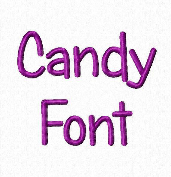 Candy Maschine Stickerei Font Monogramm Alphabet - 3 Größen