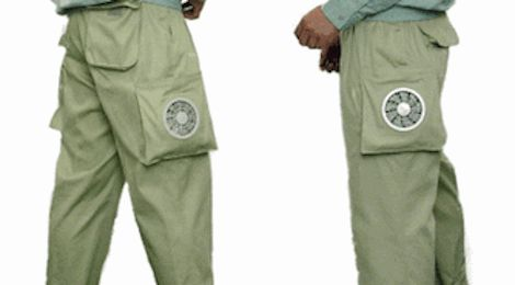 Boy, I sure could go for some battery-powered air conditioner pants