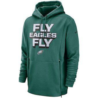 58c617f7 Men's Philadelphia Eagles Nike Midnight Green Sideline Local Lockup Pullover  Hoodie
