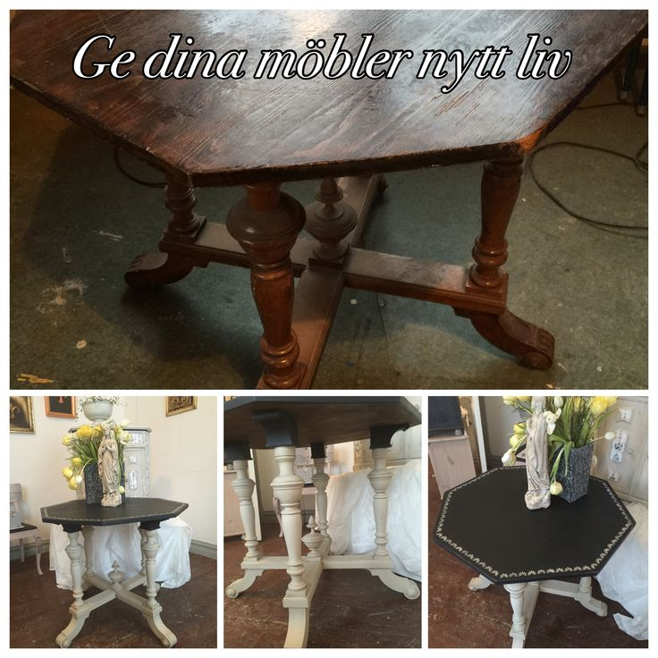 Give your furniture a new life. Here is an old table I painted.