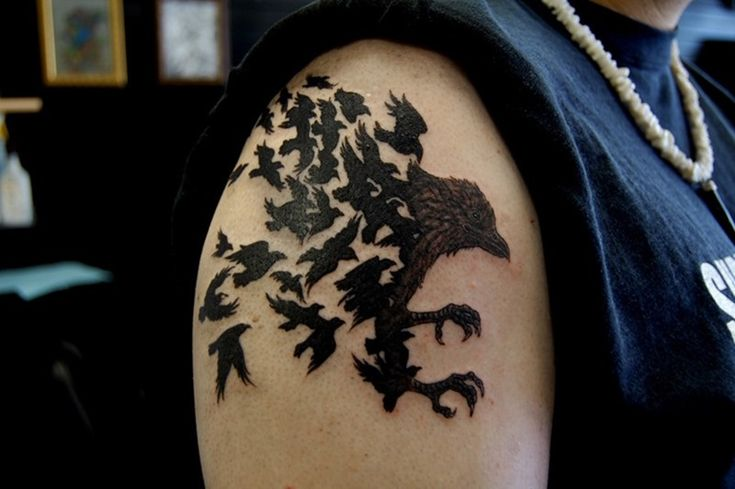 Bird Tattoos For Men on Shoulder