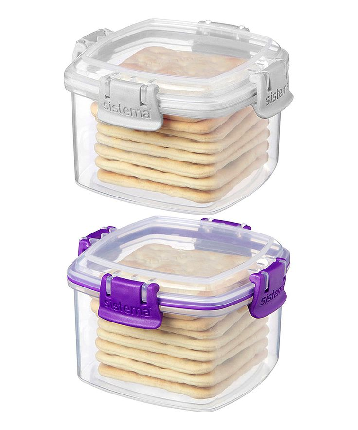 Love this White & Purple Small Cracker Container - Set of Two by Sistema on #zulily! #zulilyfinds