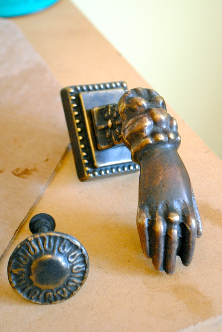 Antique French Door Knocker For The Cair Paravel (hall) Side Of The  Bathroom Door