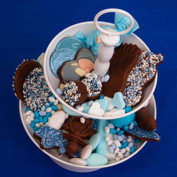 Chocolade mix Voetjes, speen/fles en bollen - Geboortelekkers