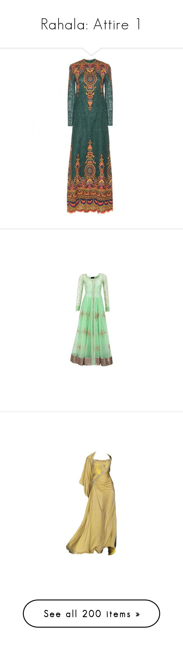 """""""Rahala: Attire 1"""" by hetra-b ❤ liked on Polyvore featuring dresses, gowns, valentino, green dress, lace ball gown, green gown, lace gown, green evening dress, gown and long dress"""
