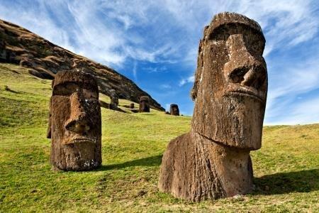 Maravillas del Mundo. Moais, Isla de Pascua (Rapa Nui)