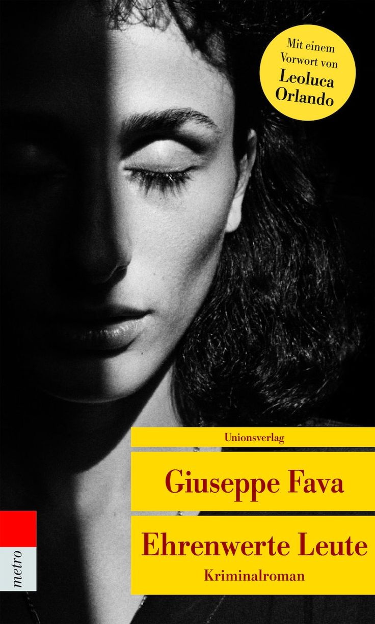 "Cover ""Ehrenwerte Leute"" von Giuseppe Fava"