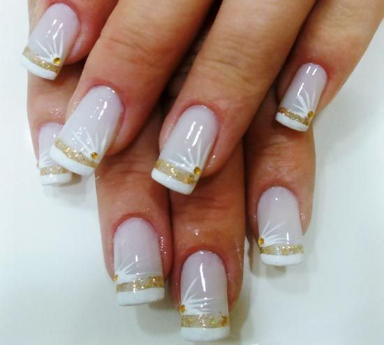 2014 Nail Art Ideas For Prom: Rhinesone Wedding Nails Design 2014