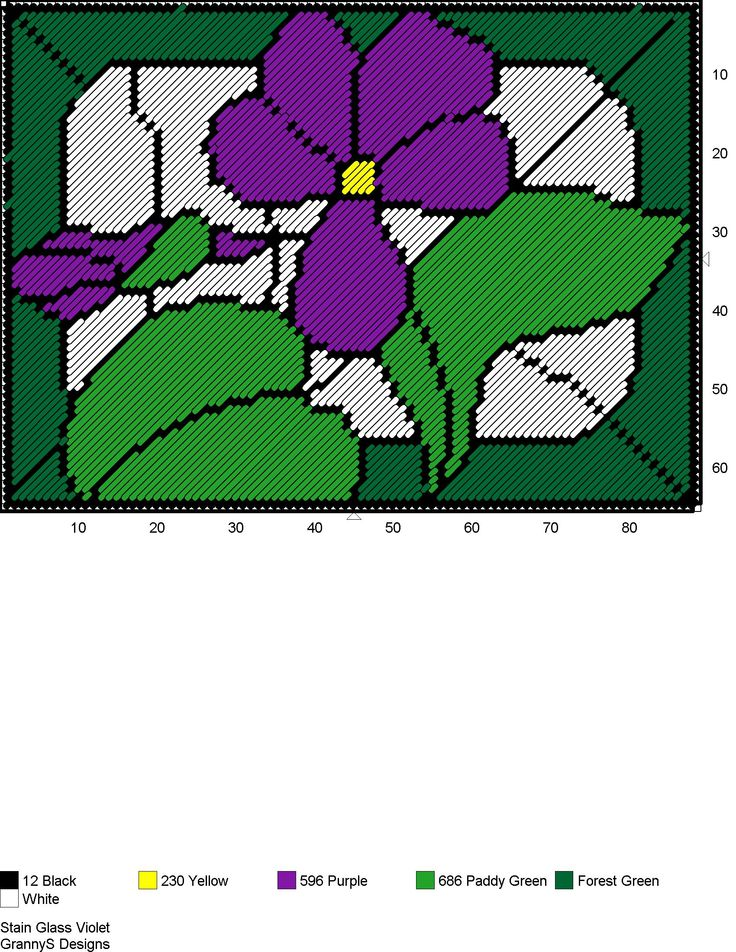 STAIN GLASS VIOLETS
