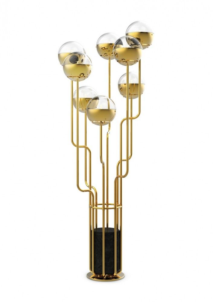 In the mood of Spring: BRABBU's new lighting pieces, contemporary lighting pieces, lamps inspired by nature and world cultures, floor lamps, #BRABBU | See more at http://brabbu.com/en/lighting/niku-floor-light/