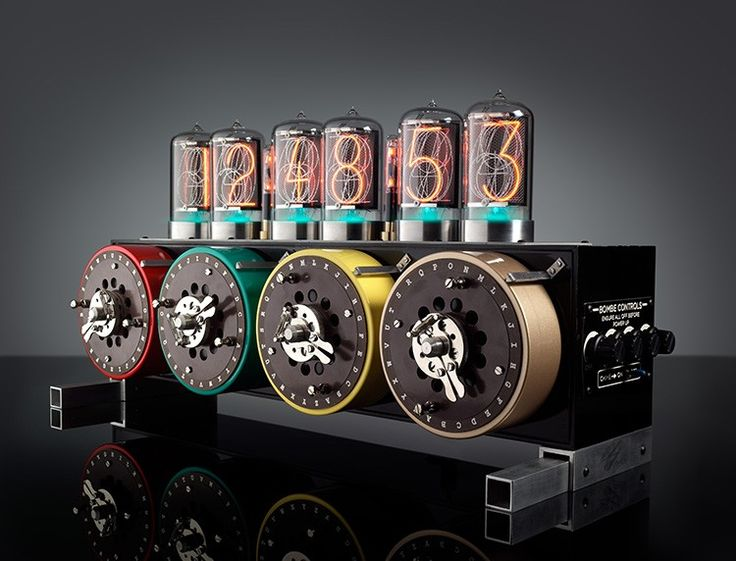 The Bombe Clock is a reinterpretation of the machine once used an to decipher encrypted messages during WWII