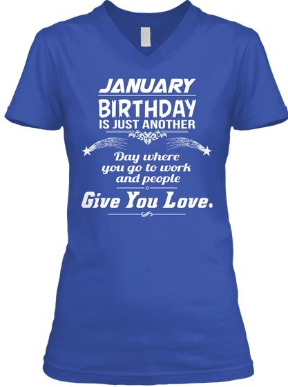 January Birthday T Shirt