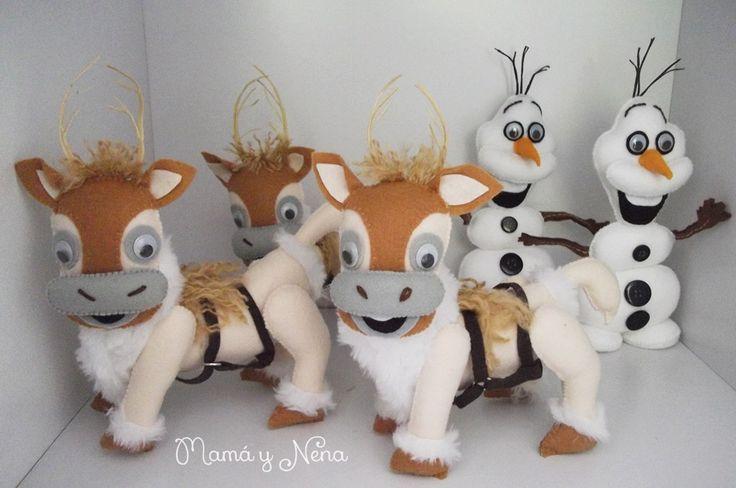Sven e Olaf Frozen em Feltro