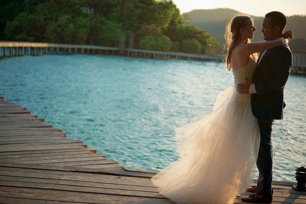 Elopement to the romantic Song Saa Private Islands by Blushing Bride Studio - Full Post: http://www.brideswithoutborders.com/inspiration/romantic-elopement-to-a-private-cambodian-island-by-blushing-bride-studio #Cambodia #Wedding #DestinationWedding