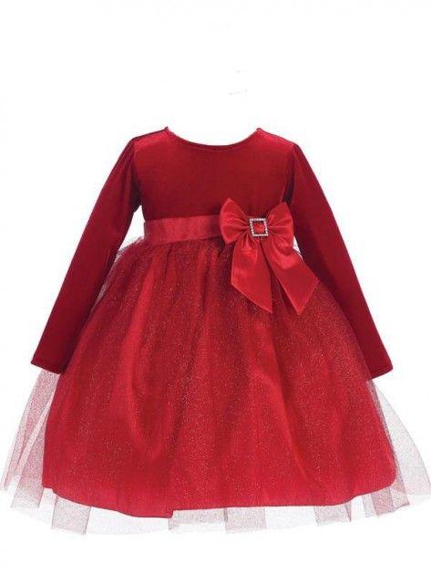 Tyllkjole med fløyelstopp og glitterskjørt, rød | DressMyKid.no - Barn og baby - Alltid gode tilbud