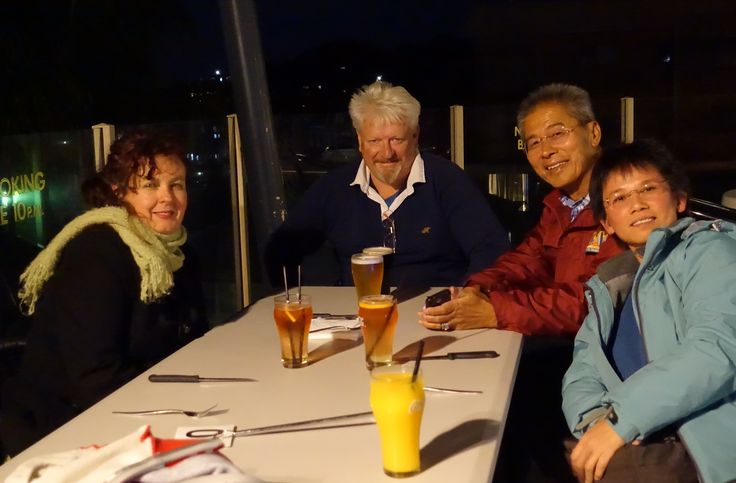 Dinner with friends at Narooma town pub north of Central Tilba hamlet.